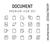 premium pack of document line...