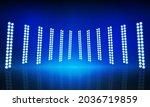 blue lights on the stage light...   Shutterstock .eps vector #2036719859