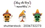 vector   set cute gnome wearing ... | Shutterstock .eps vector #2036732273