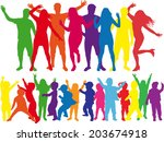 party people | Shutterstock .eps vector #203674918