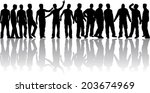 silhouettes of a man. | Shutterstock .eps vector #203674969