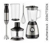 blender  food processor and...   Shutterstock .eps vector #2036772026