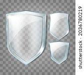 glass shields transparency...   Shutterstock .eps vector #2036780219