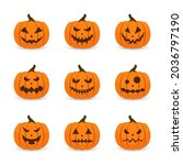 scary faces and ghosts for... | Shutterstock .eps vector #2036797190