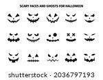 scary faces and ghosts for... | Shutterstock .eps vector #2036797193