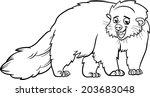 black and white cartoon vector... | Shutterstock .eps vector #203683048
