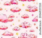 watercolor seamless pattern...   Shutterstock . vector #2036927210