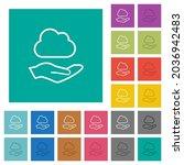 cloud services outline multi... | Shutterstock .eps vector #2036942483
