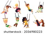 set of happy kids boys and... | Shutterstock .eps vector #2036980223