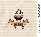bbq design wallpaper. barbecue... | Shutterstock .eps vector #203698183