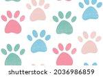 cute gentle seamless pattern...   Shutterstock .eps vector #2036986859