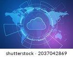 modern cloud technology...   Shutterstock .eps vector #2037042869