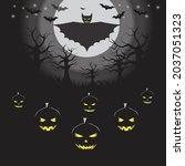 halloween celebration with the... | Shutterstock .eps vector #2037051323