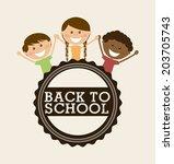 school design over white... | Shutterstock .eps vector #203705743