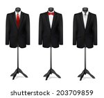 three different suits on... | Shutterstock .eps vector #203709859