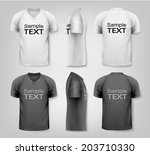 v neck t shirts with sample... | Shutterstock .eps vector #203710330