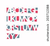 abc set made of holes. retro... | Shutterstock .eps vector #203712388