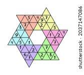 sudoku star   unusual sudoku... | Shutterstock .eps vector #2037147086
