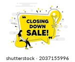 closing down sale. idea chat... | Shutterstock .eps vector #2037155996