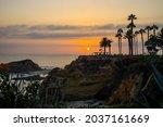 Sunset At Laguna Beach With...