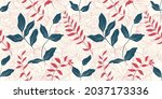 gentle pink peony flowers and...   Shutterstock .eps vector #2037173336
