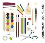 creativity and drawing items  ...   Shutterstock .eps vector #203718583