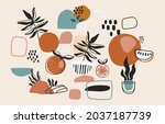 minimalistic and abstract... | Shutterstock .eps vector #2037187739