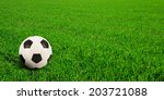 soccer ball on soccer field | Shutterstock . vector #203721088