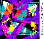 abstract seamless grunge...   Shutterstock .eps vector #2037221906