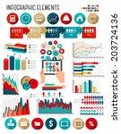 business infographics template.   Shutterstock . vector #203724136
