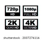 video dimension labels. video... | Shutterstock .eps vector #2037276116