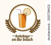 summer design over white... | Shutterstock .eps vector #203728423