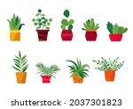 house. sweet home. set of cute...   Shutterstock .eps vector #2037301823