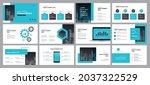 creative business presentation...   Shutterstock .eps vector #2037322529