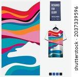 soccer jersey pattern design.... | Shutterstock .eps vector #2037339596