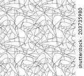 vector seamless pattern. modern ... | Shutterstock .eps vector #203735980