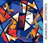 abstract grunge textured...   Shutterstock .eps vector #2037370676