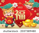 2022 chinese new year  year of... | Shutterstock .eps vector #2037389480