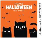 vintage halloween poster design ... | Shutterstock .eps vector #2037397919