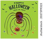 vintage halloween poster design ... | Shutterstock .eps vector #2037399323
