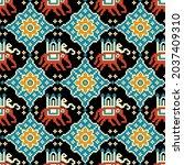 traditional asian folk art... | Shutterstock .eps vector #2037409310
