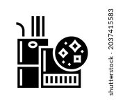 indoor air quality glyph icon...   Shutterstock .eps vector #2037415583