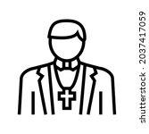 catholic religion line icon...   Shutterstock .eps vector #2037417059