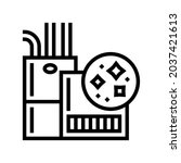 indoor air quality line icon...   Shutterstock .eps vector #2037421613