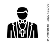 catholic religion glyph icon...   Shutterstock .eps vector #2037421709