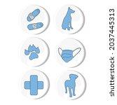 isolated vector illustration of ... | Shutterstock .eps vector #2037445313