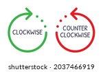 rotate clockwise in green... | Shutterstock .eps vector #2037466919