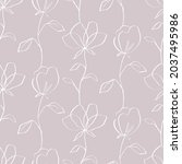 floral seamless pattern with...   Shutterstock .eps vector #2037495986