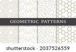 set of arabic seamless patterns.... | Shutterstock .eps vector #2037526559