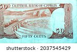 Reverse Side Of Cyprus 50 Fifty ...